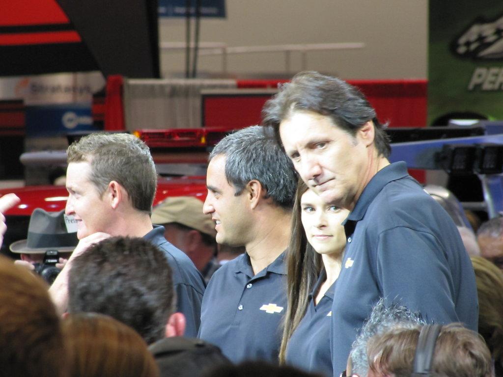 Jaun Pablo Montoya and Danica Patrick